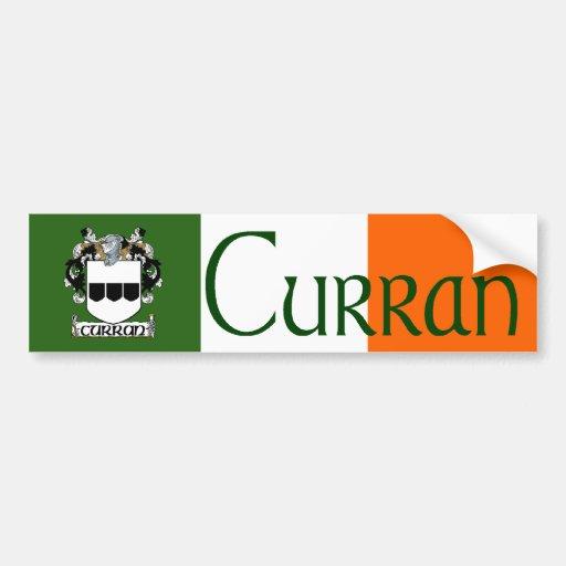 Curran Coat of Arms Bumper Sticker