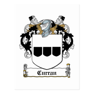 Curran Family Crest Postcard