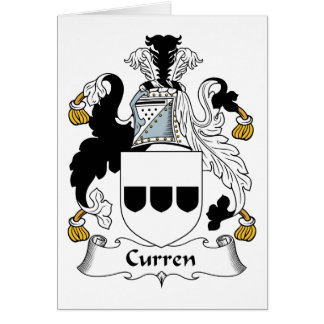 Curren Family Crest Card