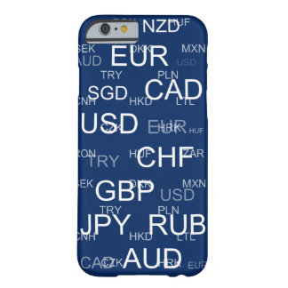 currency abbreviations barely there iPhone 6 case