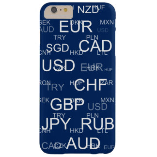currency abbreviations barely there iPhone 6 plus case