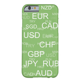 currency abbreviations dollar green barely there iPhone 6 case