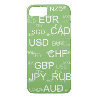 currency abbreviations dollar green iPhone 7 case