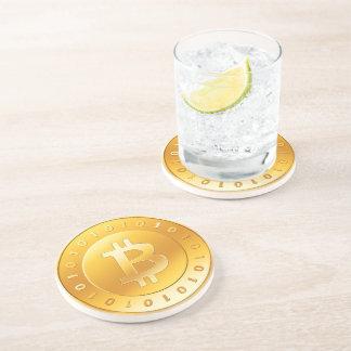 Currency Bitcoin - round Posavasos M1 Coaster