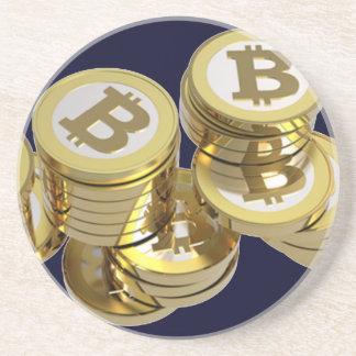 Currency Bitcoin - round Posavasos M5 Drink Coaster