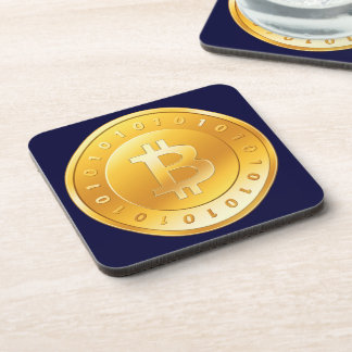 Currency Bitcoin - square Posavasos M1 Coaster