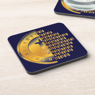 Currency Bitcoin - square Posavasos M2 Beverage Coaster