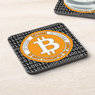 Currency Bitcoin - square Posavasos m3 Drink Coaster