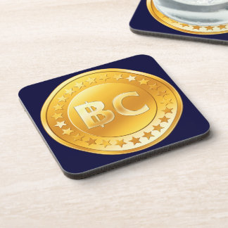 Currency Bitcoin - square Posavasos M4 Coaster