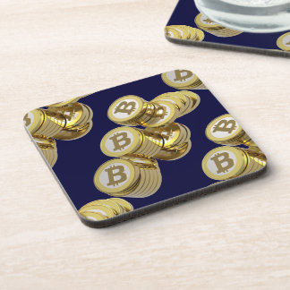 Currency Bitcoin - square Posavasos M5 Coaster