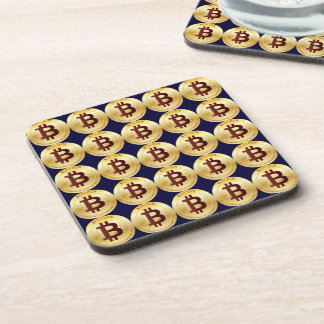 Currency Bitcoin - square Posavasos M6 Coaster