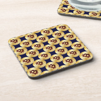 Currency Bitcoin - square Posavasos M6b Coaster