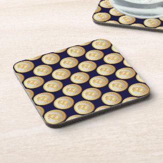 Currency Bitcoin - square Posavasos M7 Coaster