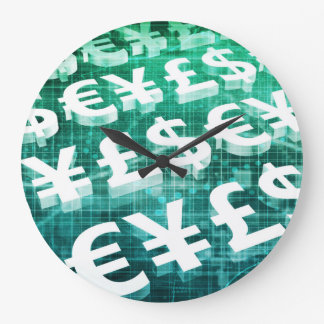 Currency Exchange as a Concept in 3d Large Clock