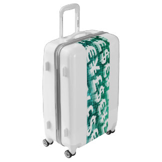 Currency Exchange as a Concept in 3d Luggage