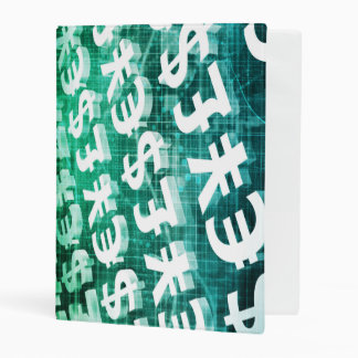 Currency Exchange as a Concept in 3d Mini Binder