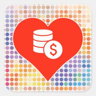 Currency Fan Square Sticker