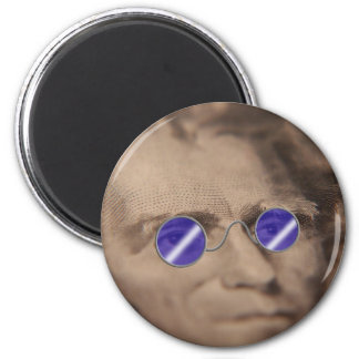 Currency in sunglasses 2 inch round magnet