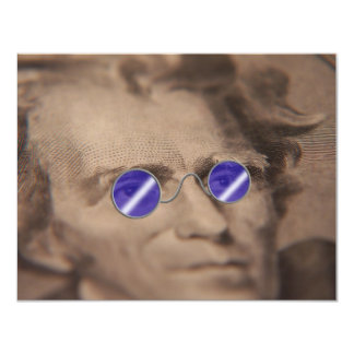 Currency in sunglasses card