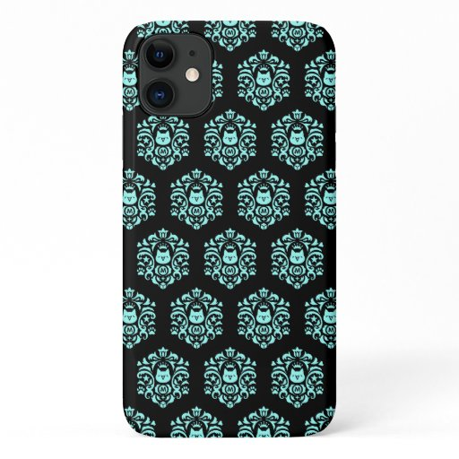 Currency MonoCoin MonoDamask Pattern Blue iPhone 11 Case