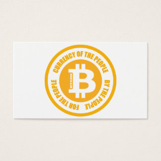 Currency Of The People By The People For The Peopl Business Card