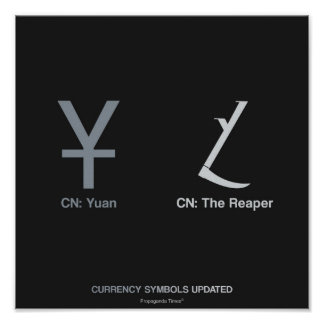 Currency Symbols Updated - Yuan Posters