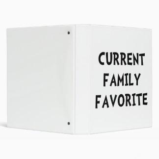 Current Family Favorite Vinyl Binder