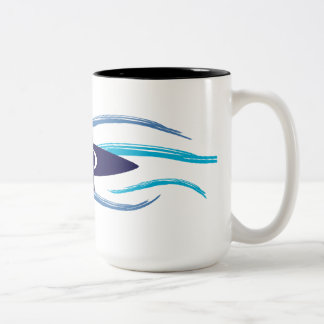 Current Kayak Two-Tone Coffee Mug