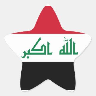 Current National Flag of Iraq Star Sticker