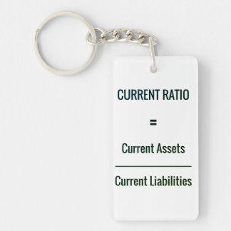 """Current Ratio"" Keychain"