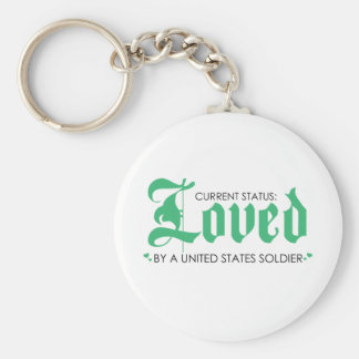 Current Status: Loved by a US Soldier Keychain