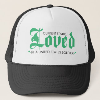 Current Status: Loved by a US Soldier Trucker Hat