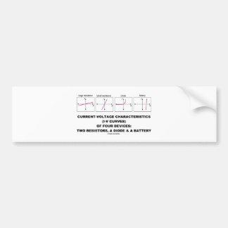 Current-Voltage Characteristics I-V Curves Bumper Stickers