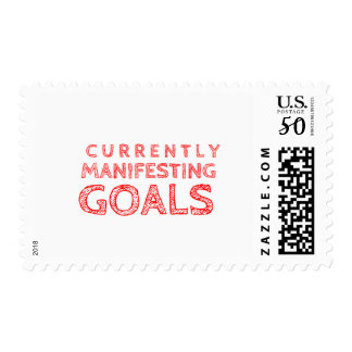 Currently Manifesting Goals Postage