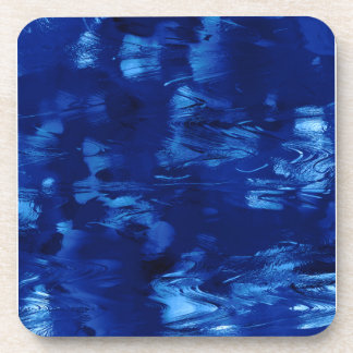 Currents In a Lazy Blue River Beverage Coaster