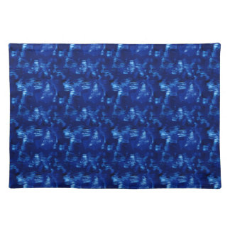 Currents In a Lazy Blue River Cloth Placemat