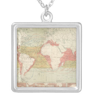 Currents of air silver plated necklace