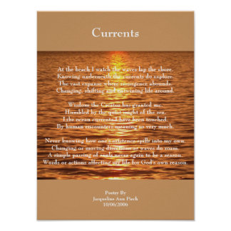 Currents Poetry Poster