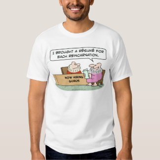 curriculum vitae del gurú para cada reencarnación camisas