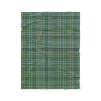Currie Clan Tartan Plaid Fleece Blanket
