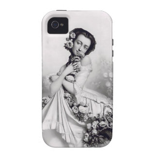 Currie & Ives Lady with roses iPhone 4/4S Cover