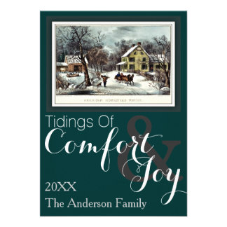 Currier and Ives American Homestead Winter Invites