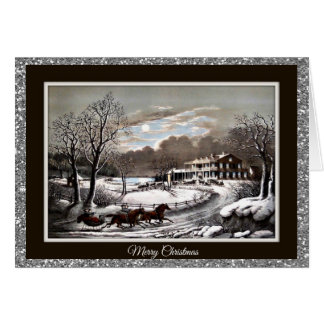 Currier and Ives Vintage Custom Christmas Cards