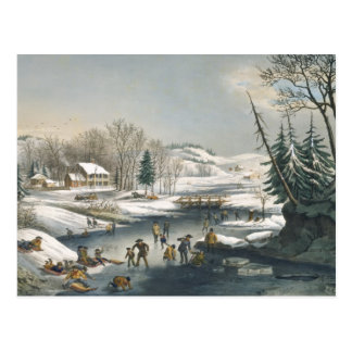 Currier and Ives Winter Morning Postcard