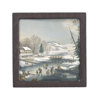 Currier and Ives Winter Morning Premium Jewelry Box