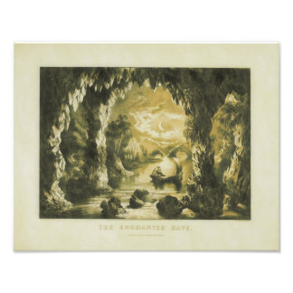 """Currier & Ives 1867 """"Enchanted Cave"""" Print Photo Print"""