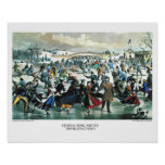 Currier & Ives Lithograph: Central Park Winter Poster