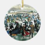 Currier & Ives - Ornament - Central Park Winter