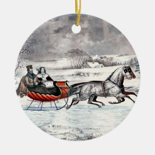 Currier & Ives - Ornament - The Road, Winter
