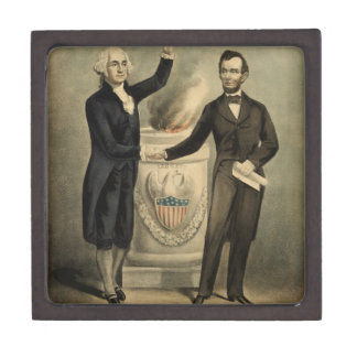 [Currier & Ives portrait of Washington and Lincoln Premium Gift Boxes